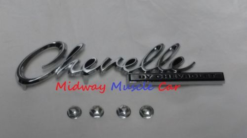 Chevelle by CHEVROLET rear deck trunk lid emblem 69 Chevy Chevelle