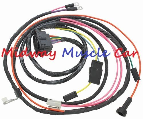 HEI engine wiring harness V8 1966 66 Chevy Chevelle el camino Malibu with a/c