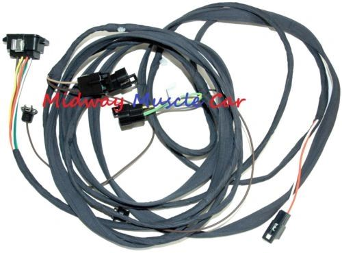 convertible rear body tail light wiring harness 68 1968 Pontiac GTO LeMans