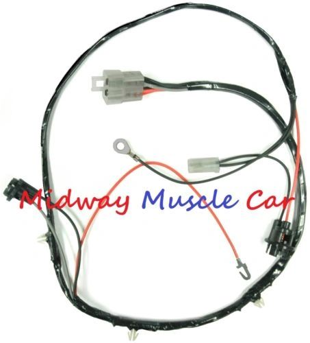 rear floor console wiring harness early 1964 64 Pontiac GTO LeMans tempest