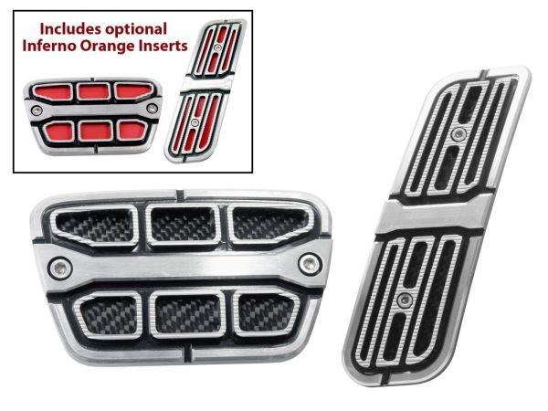 billet aluminum brake & gas pedal trim covers 2010-15 Chevy Camaro