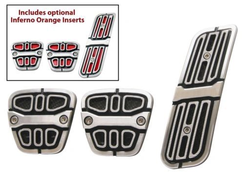 billet aluminum clutch brake & gas pedal trim covers 2010-15 Chevy Camaro
