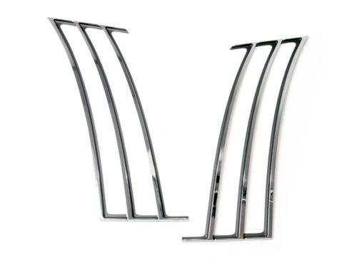 chrome rear 1/4 quarter panel louvers insert trim 2010-15 Chevy Camaro