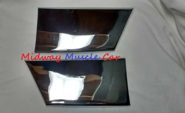 chrome front lower fender rocker molding extensions 67 Pontiac GTO LeMans