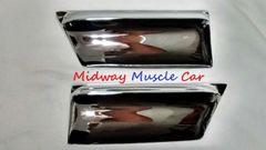 chrome front lower fender rocker molding extensions 66 Pontiac GTO LeMans