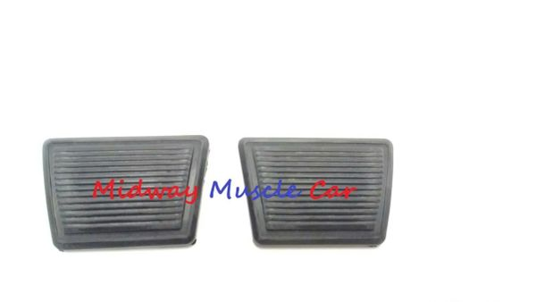 rubber brake & clutch pedal pad set 64-72 Pontiac GTO Lemans Tempest