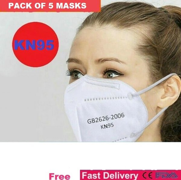 5 pack of KN95 Face Mask Respirator Personal Protection Cover