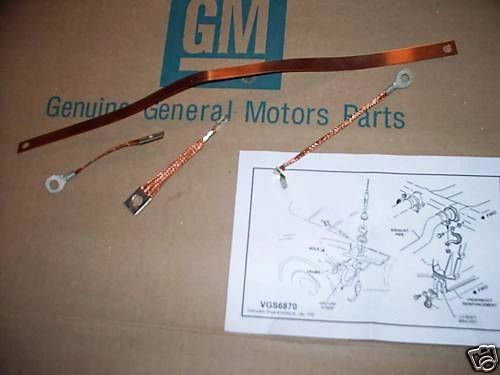 ground strap set 63-66 Chevy Corvette w/ side exhaust