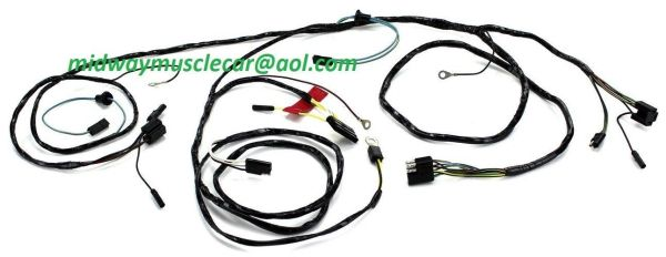 Front end light forward lamp Wiring Harness 65 Ford Mustang w/ round speedo