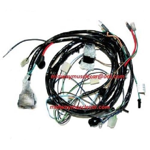 front end forward lamp light wiring harness 74 Chevy Corvette 1974