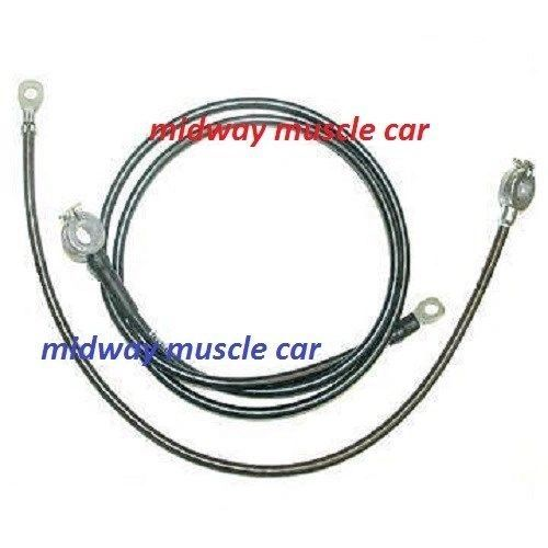 62 Chevy Corvette C2 original Correct BATTERY CABLE Set top post spring ring