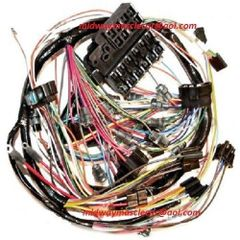 dash wiring harness 63 Chevy Corvette WITHOUT backup lights