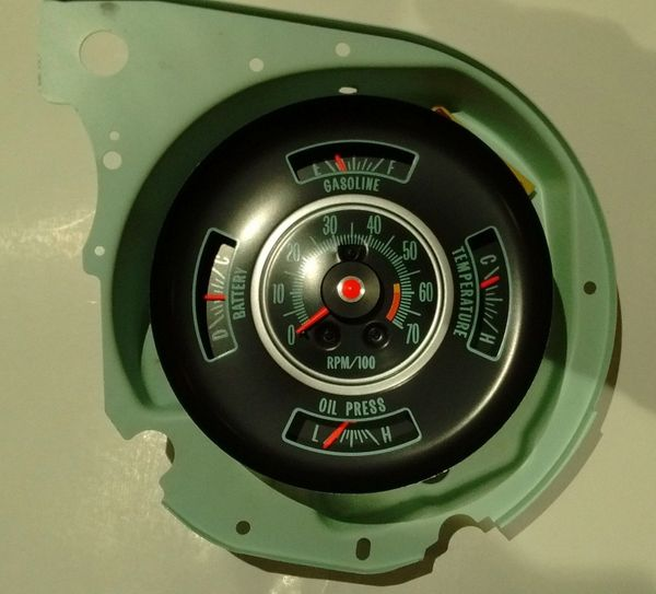 tachometer & dash gauge 69 Chevy chevelle malibu el camino 6000 rpm tach gauges