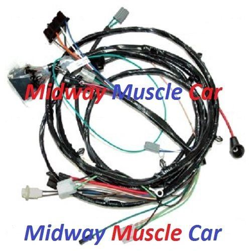 front end light headlight headlamp wiring harness 70 Chevy Nova