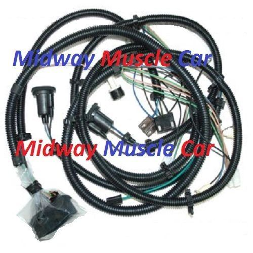 front end forward head light lamp wiring harness 79 80 Chevy Camaro