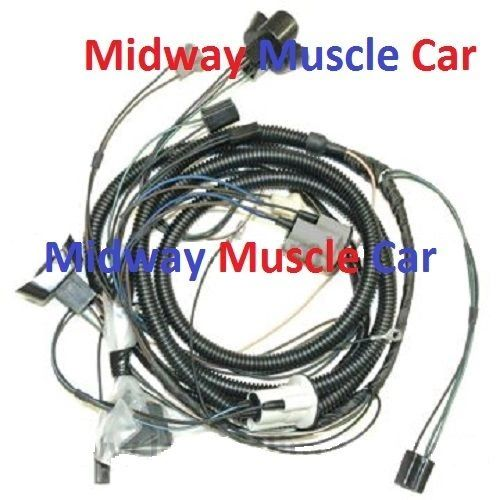 front end headlight lamp wiring harness 71 72 Pontiac GTO judge Lemans Tempest