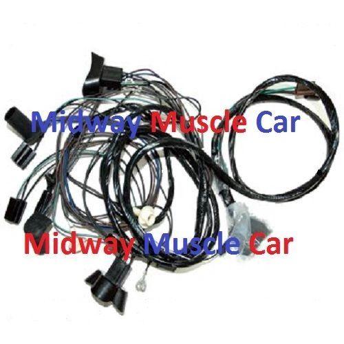 front end headlight wiring harness w/ standard headlights 1969 Pontiac GTO judge