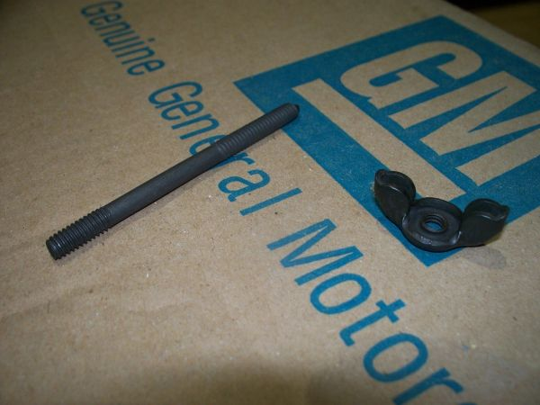 NOS black wingnut & carb stud 64-85 Buick Olds skylark 442 GS cutlass
