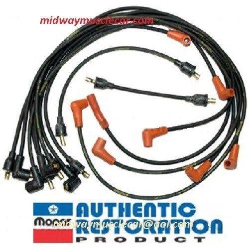 1-Q-70 date coded spark plug wires 70 MOPAR 383 440 GTX cuda charger challenger