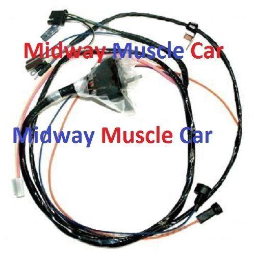 HEI engine wiring harness 68 69 Chevy Chevelle 396 427 Malibu w/ warning lights