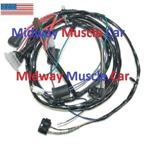 front end headlamp headlight wiring harness new style alternator 62-64 Chevy II
