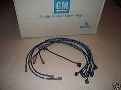 3-Q-69 date coded spark plug wires 70 Buick GS Skylark Wildcat 455 gran sport