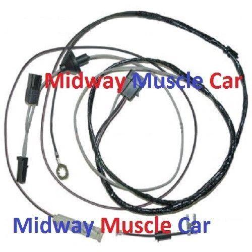 coil side hood tach tachometer wiring harness 67 68 69 Pontiac Trans Am Firebird