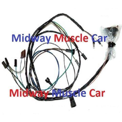 engine wiring harness V8 68 Pontiac Firebird 350 400