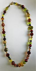 Single Strand Necklace with Assorted Murano Venetian Glass, Swarovski Crsytals, and Various Beads
