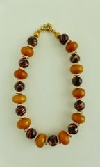 Amber and Missoni Blown Murano Glass Beaded Necklace