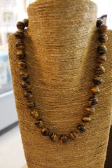 Tiger Eye Beaded Necklace 20 inch