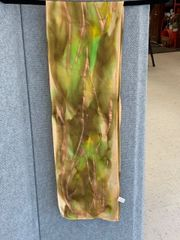 Gold Metallic and Green Scarf
