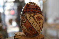 Pysanky Egg Art Pottery Design