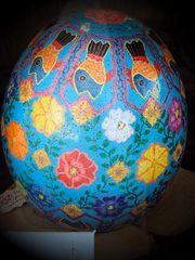 Pysanky Ostrich Egg Art
