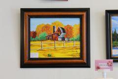 Autumn Barn Acrylic Painting