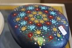 Dot Mandala Painted Rock