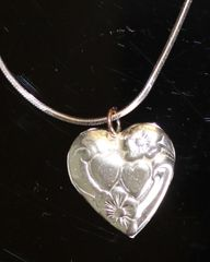 Sterline Silver Heart and Sterling Silver Chain