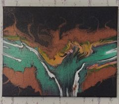 Acrylic Pour Painting Class Feb 29th 1:30 to 3:30