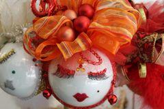 "Valentines Day Ornament ""Orange & Red"" By Nanette Boerding"