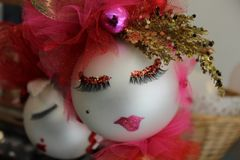 """Valentines Day Ornament """"Silver and Cherry"""" By Nanette Boerding"""