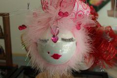 "Valentines Day Ornament ""Light Pink"" By Nanette Boerding"