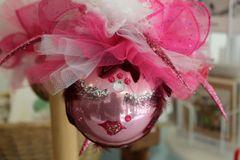 "Valentines Day Ornament ""Shiny Pink "" By Nanette Boerding"
