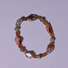 Rainforest Jasper and Mexican Opal Bracelet