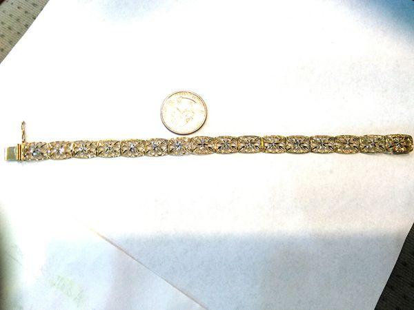 Lady Tennis 10 K yellow gold bracelet