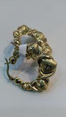 Women Hoop earrings 10 K solid yellow Gold