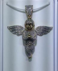 10kt Solid Yellow Gold Angel Diamond Pendant