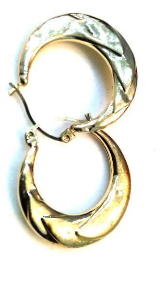 EMAN Hoop lady earrings solid yellow Gold 10 K
