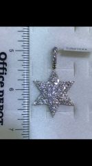 14k Solid Yellow Gold Real Diamond Star
