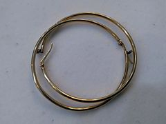 Lady hoop earrings 10 K solid yellow Gold