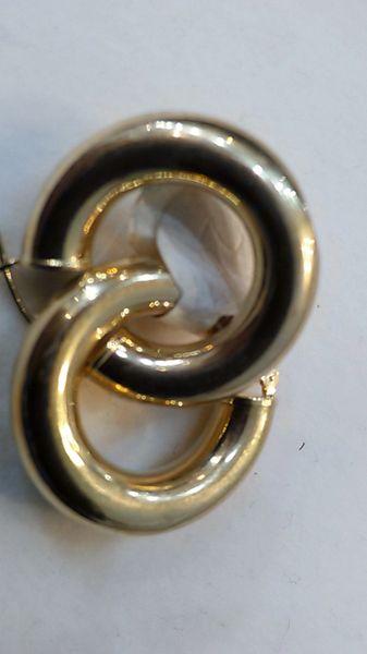 Lady hoop earrings solid yellow Gold ,szz